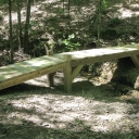 Another view of the finished bridge