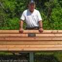 Robert is happy with the new bench sponsored for a dear friend of his.