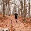 The third runner to reach the turnaround point on Hickory Nut.  Only about 3 or 4 minutes separated the first three runners to reach this 14+ mile point.